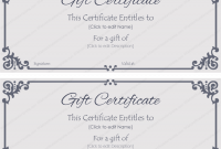 Company Gift Certificate Template 8