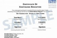 Continuing Education Certificate Template 3