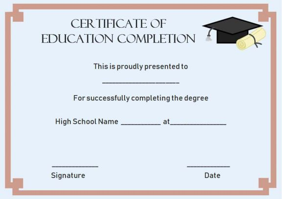 Continuing Education Certificate Template 4