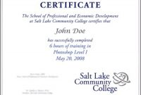 Continuing Education Certificate Template 5