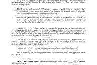 Corporate Secretary Certificate Template 3