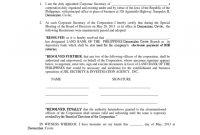 Corporate Secretary Certificate Template 5