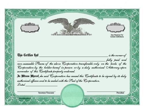Corporate Share Certificate Template 10