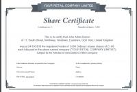 Corporate Share Certificate Template 2