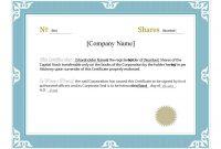 Corporate Share Certificate Template 4