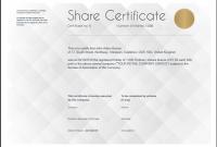 Corporate Share Certificate Template 6