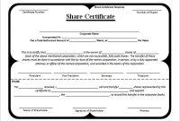 Corporate Share Certificate Template 7