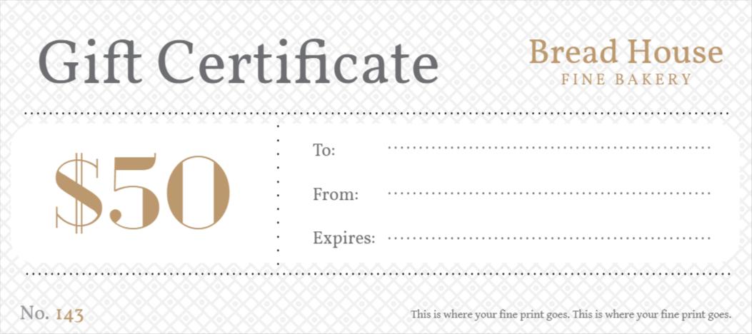 Custom Gift Certificate Template 2
