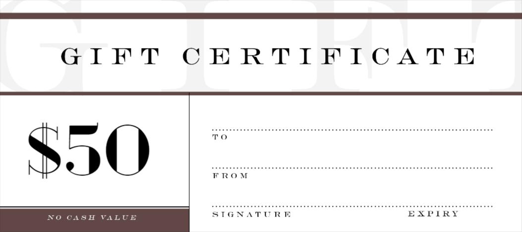Custom Gift Certificate Template 7