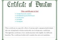 Donation Certificate Template 10