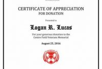 Donation Certificate Template 11