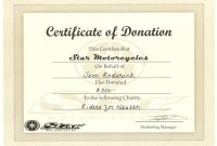 Donation Certificate Template 2