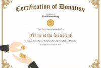 Donation Certificate Template 4