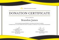 Donation Certificate Template 8