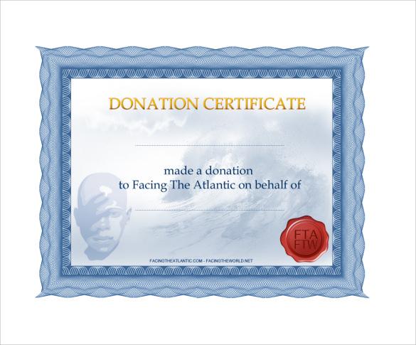 Donation Certificate Template 9