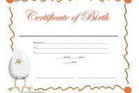 Editable Birth Certificate Template 12