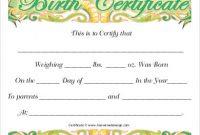 Editable Birth Certificate Template 2