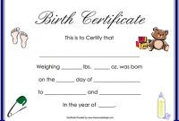 Editable Birth Certificate Template 8