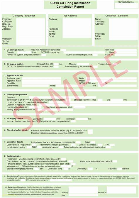 Electrical Isolation Certificate Template 5