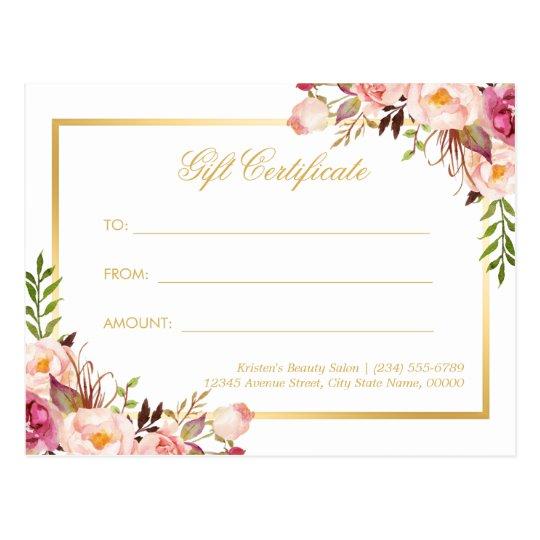 Elegant Gift Certificate Template 13