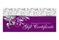 Elegant Gift Certificate Template 4