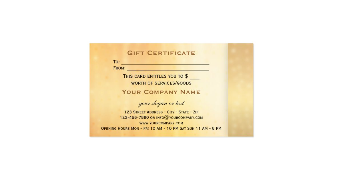 Elegant Gift Certificate Template 8
