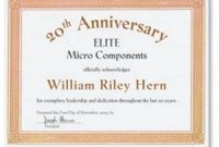 Employee Anniversary Certificate Template 4