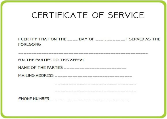 Employee Certificate Of Service Template 2