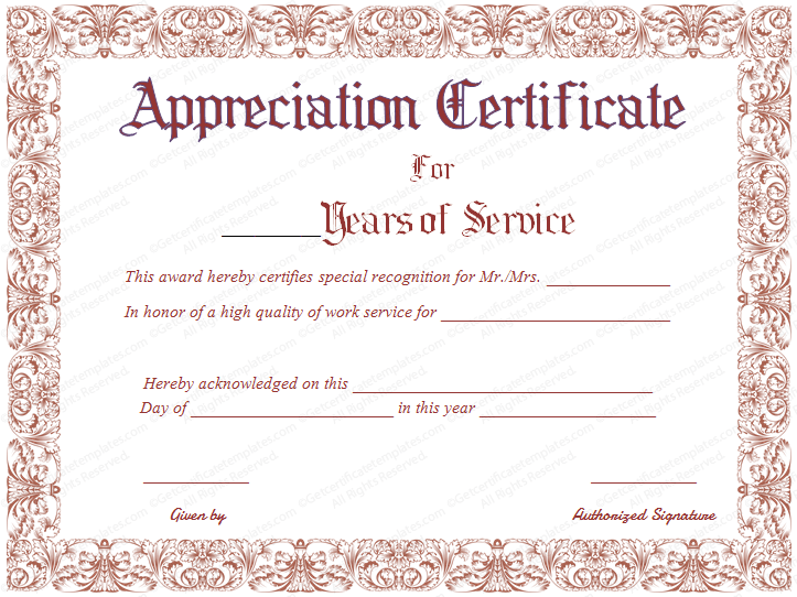 Employee Certificate Of Service Template 7