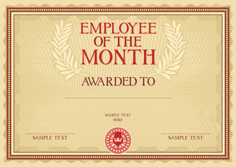 Employee Of The Month Certificate Templates 4