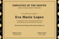 Employee Of the Month Certificate Templates 7