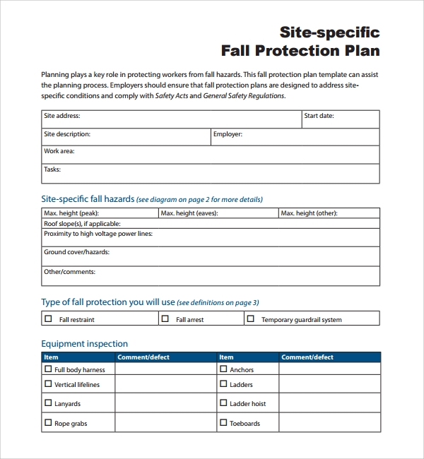 Fall Protection Certification Template 3