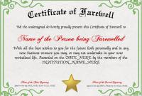 Farewell Certificate Template 2