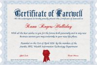 Farewell Certificate Template 3