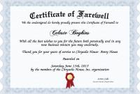 Farewell Certificate Template 6