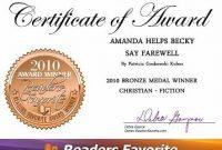 Farewell Certificate Template 7