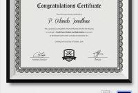 Felicitation Certificate Template 12