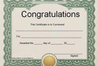 Felicitation Certificate Template 5