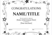 Felicitation Certificate Template 6