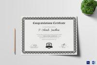 Felicitation Certificate Template 8