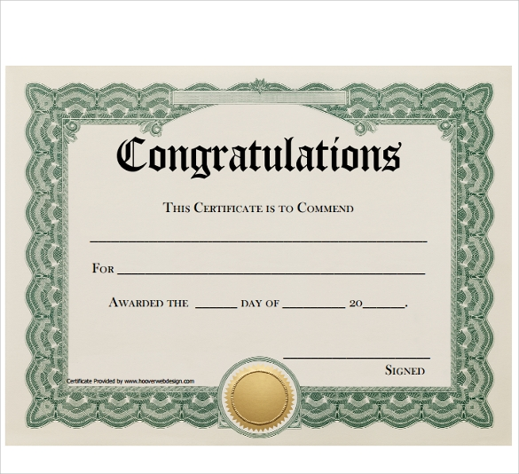 Felicitation Certificate Template 9