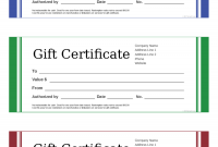 Fillable Gift Certificate Template Free 10