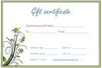Fillable Gift Certificate Template Free 4