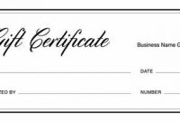 Fillable Gift Certificate Template Free 7