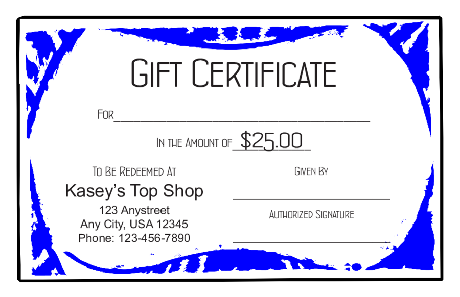 Fillable Gift Certificate Template Free 9