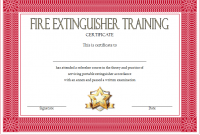 Fire Extinguisher Certificate Template 9