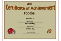 Football Certificate Template 10