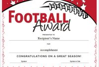 Football Certificate Template 2