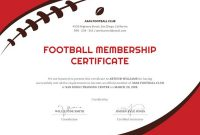 Football Certificate Template 4