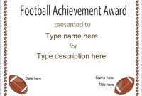 Football Certificate Template 5